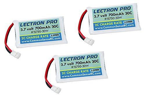 of Lectron Pro 3.7 volt - 700mAh 30C Lipos for Estes Proto-X FPV Quadcopter by Common Sense RC by Common Sense RC