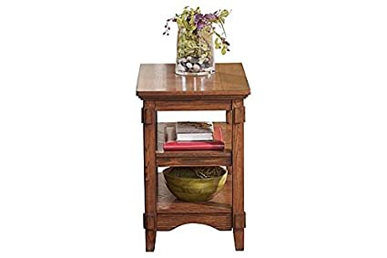 Ashley Furniture Signature Design   Cross Island Rustic Oak Chair Side End  Table   Medium Brown