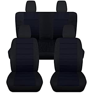 Amazon Com 2011 2016 Jeep Wrangler Jk Seat Covers Black