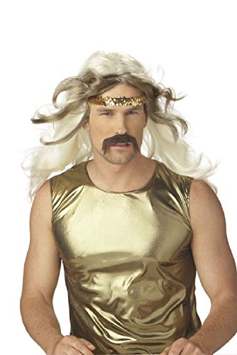 Roller Skate Rock Gold 70's Halloween Costume Wig
