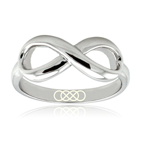 Sterling Silver Double Infinity Icon Engraved Infinity Ring, Size - Tiffany Co And Infinity