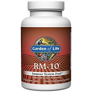 Garden of Life Organic Fermented Mushroom Complex – RM-10 Immune System Supplement with Selenium, Vegetarian, 60 Caplets
