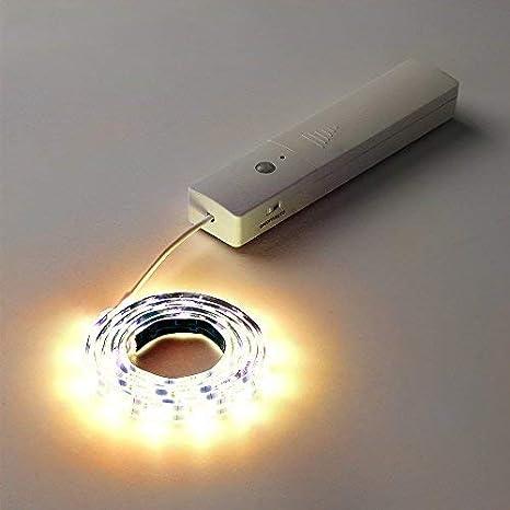 Lámpara LED con sensor de movimiento, luz del gabinete, Luz de noche lámpara de