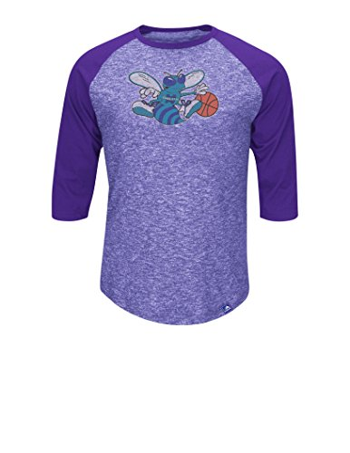 NBA Charlotte Hornets Men's Dont Judge Fashion Tops, X-Large, Hyper Purple Pepper Slub/Regal Purple