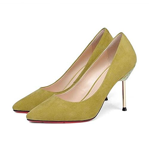 Yellow Black Heels Black Suede Shoes ZHZNVX Women's Stiletto Heel Comfort Spring wqBxz8x