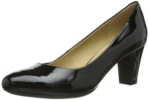 Geox Women's Marie Claire Mid Dress Pump,Black Patent,36.5 EU/6.5 M US