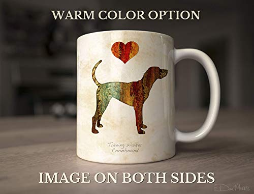 Treeing Walker Coonhound Dog Breed Mug by Dan Morris, Personalize with Dog ()