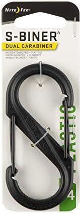 Nite Ize Carabiner Clip, 3-1/2 in, Plastic, Black