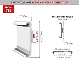 Barkan Low Profile Wall Mount for 7 - 12 Inch Tablet