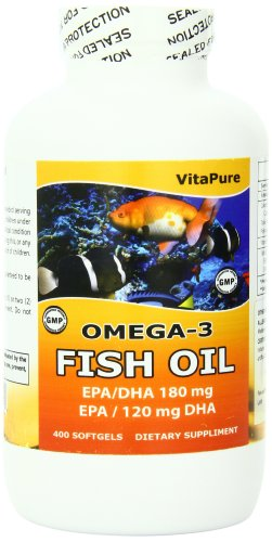 Vita Pure Omega – Fish Oil 400 Softgels, 1000 mg, 400 Count Review