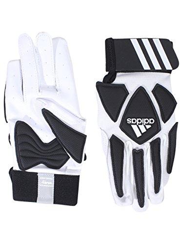 adidas Scorch Destroy 2 Lineman Gloves Full Finger, White/Black, X-Large ()