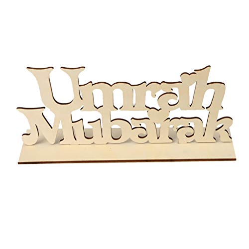 Clearance Sale!DEESEE(TM)Wooden Eid Wooden Sign Word Plaque Wall Art Craft DIY Alphabet Home Decor Craft (B)