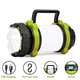 Rechargeable LED Camp Lantern USB Charge, Portable Brightest Camping Light with 700LM,4 Modes, IPX4 Water Resistant, Lightweight Flashlight Perfect for Camping, Hiking, Patrol and More