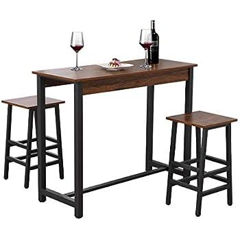 Amazon.com: Tribesigns - Juego de mesa y mesa de comedor (3 ...
