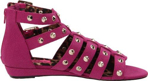 Betsey Johnson Womens Aeroo Sandalo Con Zeppa Fucsia