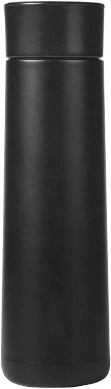 RNGNB Botella de Agua Inteligente, Botella de Agua de Acero Inoxidable Copa aislada a Prueba de Fugas Recargable con Pantalla de Temperatura y recordatorio de Alarma Smart Water Bottle