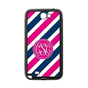 Customized Case for Iphone 5/5S Pink Circle Monograms Tilt Pink and Blue Stripes with Best Plastic Black ALL MY DREAMS