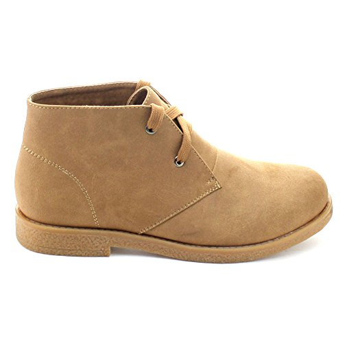 Ease Women's Soft Ankle Booties Lace Camel Breeze Nature Fold Flat 02 Cuff Up Over 5xqFFp