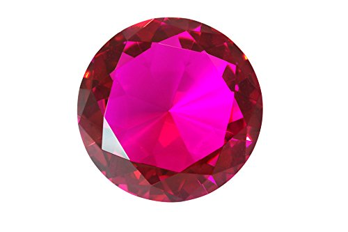 Tripact 100mm Magenta Hot Pink Crystal Diamond Jewel Paperweight 4 Inch