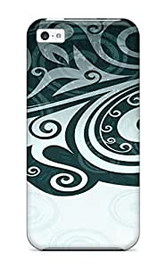 Ultra Slim Fit Hard MarvinDGarcia Case Cover Specially Made For Iphone 5c- Floral 2731230K71934605