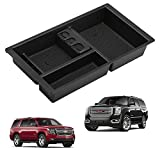 Seven Sparta Center Console Organizer for Chevy Chevrolet Tahoe Suburban Silverado GMC Sierra Yukon 2015-2018 ABS Tray Armrest Box Secondary Storage Full Console w Bucket Seats ONLY