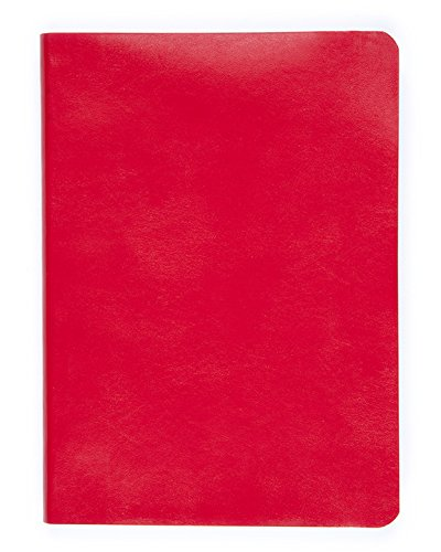 Soft Faux Leather Bound Jounal, 6 x 8, 400 Pages, Lined Paper (red) by Miquelrius (Image #2)