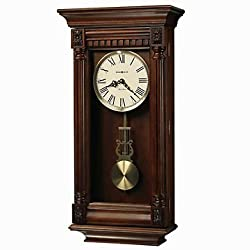 Lewisburg Wall Clock with Tuscany Cherry Finish