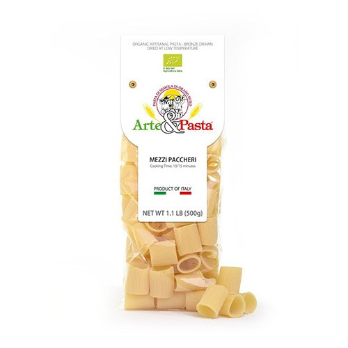 Organic Mezzi Paccheri Pasta by Arte & Pasta (1.1 pound)