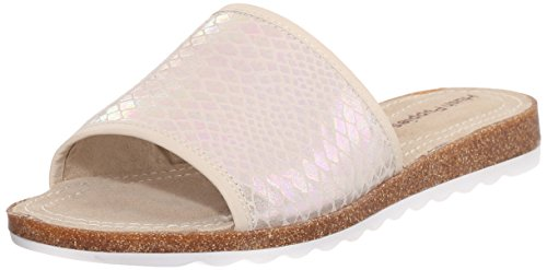 Puppies Hush Panton Jade Women's Leather Sandal Novelty white Flat Off PHHRqa