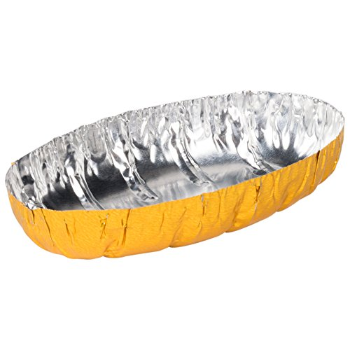 Royal Paper L5PG Gold Aluminum Foil Potato Shell - 250/Box by Royal Paper