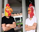 ifkoo Chicken Mask Deluxe Novelty Halloween Costume Party Latex Animal Chicken Head Mask