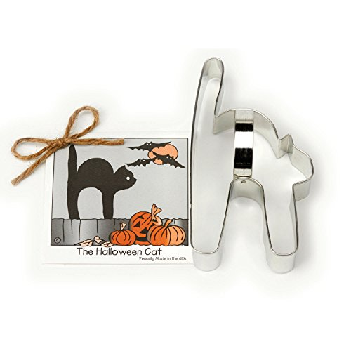 Halloween Cat Cookie and Fondant Cutter - Ann Clark - 5.9 Inches - US Tin Plated Steel for $<!--$2.98-->
