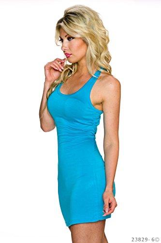Robe Turquoise keine Manche D'été Bleu keine Femme Sans UYdn6q
