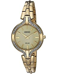 Seiko Womens Quartz Stainless Steel Casual Watch, Color:Gold-Toned (Model: SUP346)