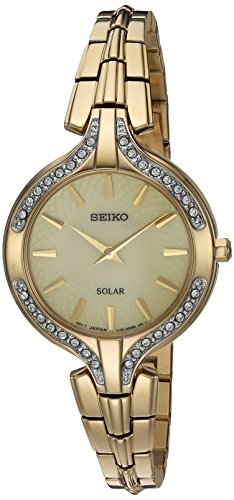 (Seiko Women's Quartz Stainless Steel Casual Watch, Color:Gold-Toned (Model: SUP346))