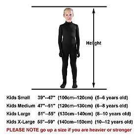 Full Bodysuit Kids Dancewear Solid Color Spandex Zentai Child Unitard