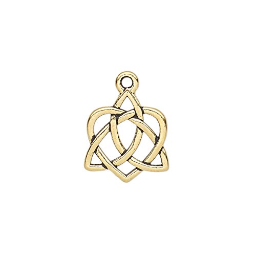 (Charm TierraCast antique gold-plated