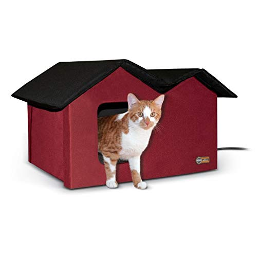 - K&H Pet Products Extra-Wide Outdoor Kitty House, 26.5