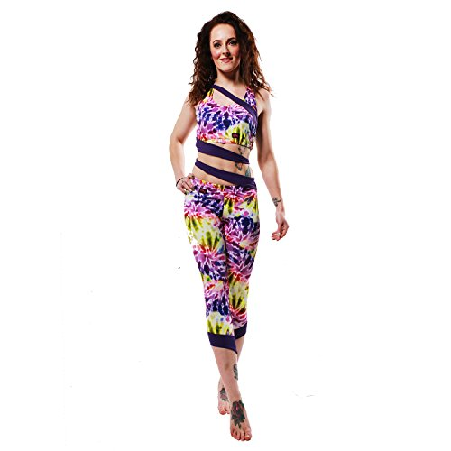 Sirena Leggings Recortada w0159 Spiral Tie Dye/Purple