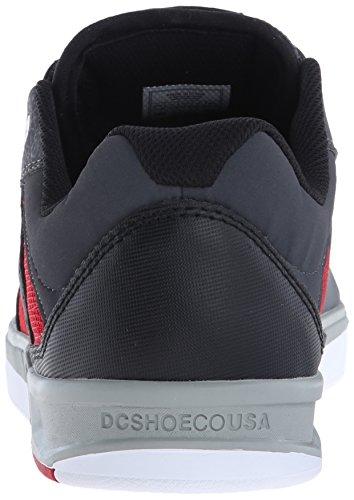 DC Männer Maddo Skate Schuh Grau / Rot / Weiß