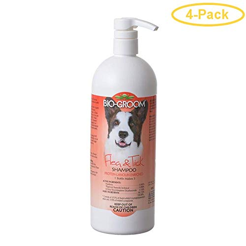 Bio-groom Flea & Tick Shampoo 32 oz - Pack of 4