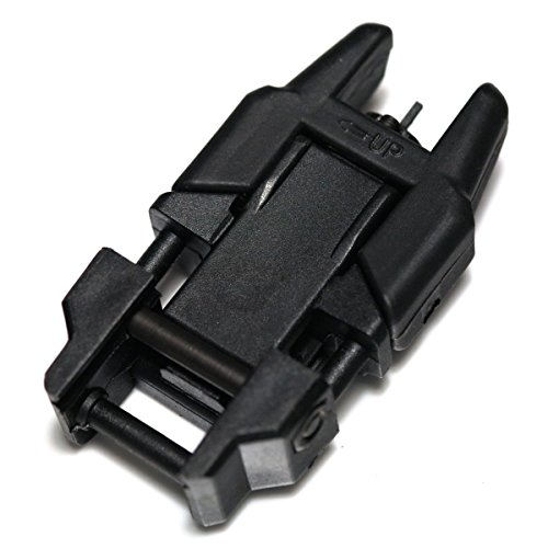 Airsoft Wargame Tactical Shooting Gear APS GG038B Rhino Auxiliary Flip Up Front Sight Black by Airsoft Storm (Image #1)