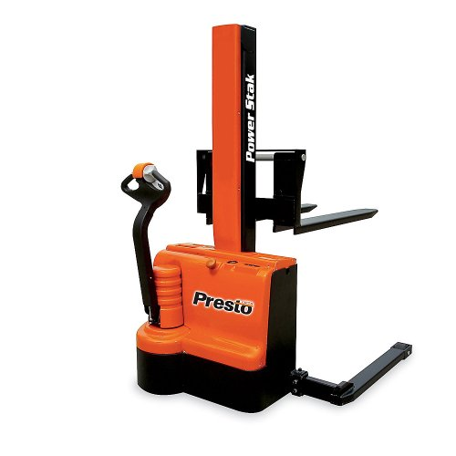 Presto Powerstak Fully Powered Stackers: Adjustable Forks Inside Adjustable Straddle Legs - 2200-Lb. Capacity - 3-1/4 To 101
