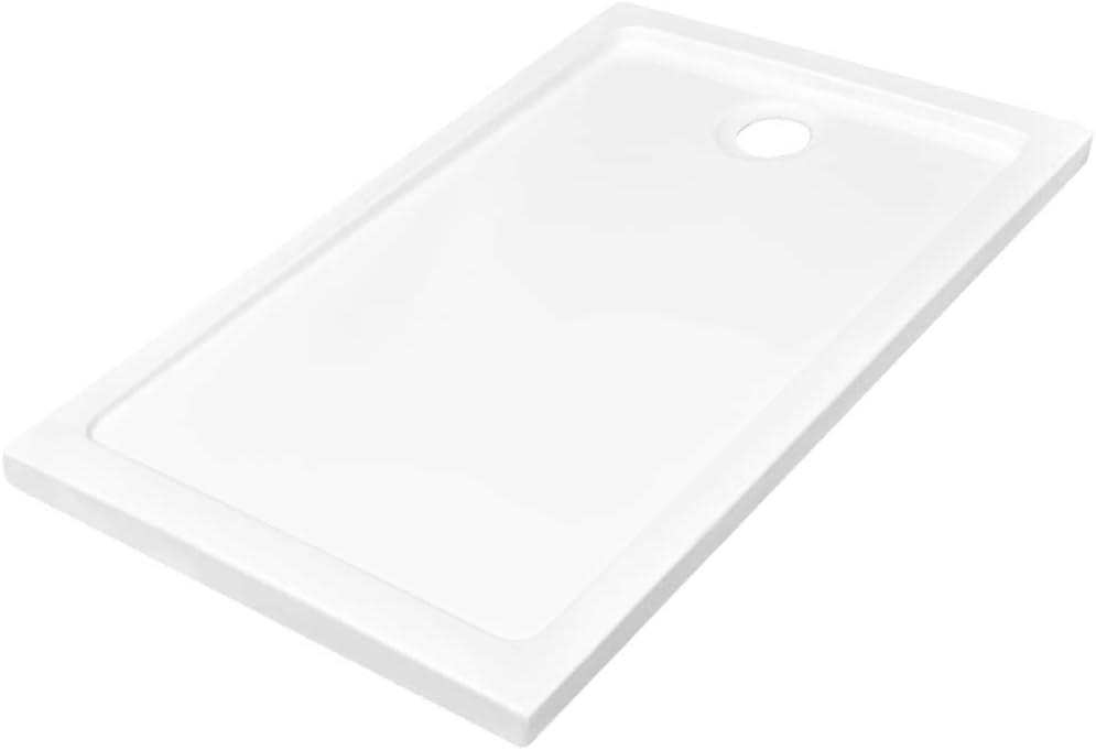 vidaXL Plato de ducha ABS blanco 70x120 cm