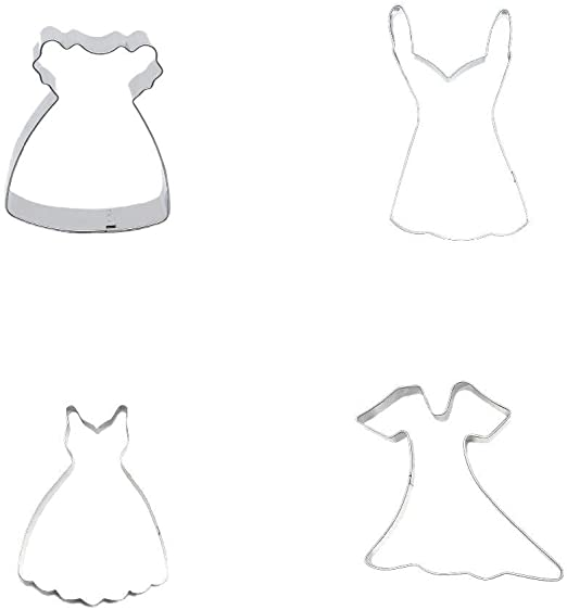 """Biscuit Pastry Fondant Baking Tools Cake Wedding Dress GOWN Cookie Cutter 4/"""""""