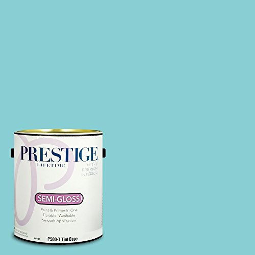 Prestige Paints Interior Paint and Primer In One, 1-Gallon, Semi-Gloss,  Comparable Match of Benjamin Moore Clearlake
