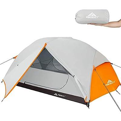 Forceatt Zelt 2-3 Personen Camping Zelt, 2 Doors Wasserdicht & Winddicht 3-4 Saison Ultraleichte Rucksack Zelt für…