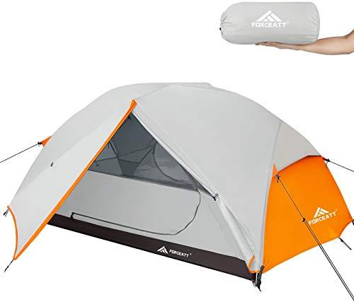 41fwuZq7BqL Forceatt Zelt 2-3 Personen Camping Zelt, 2 Doors Wasserdicht & Winddicht 3-4 Saison Ultraleichte Rucksack Zelt für…