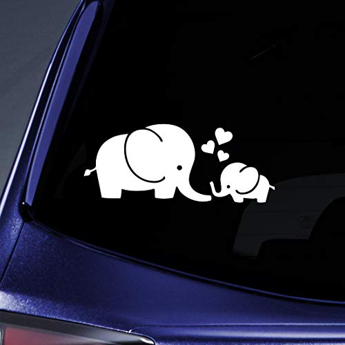 Bargain Max Decals Elephant Love Sticker Decal Notebook Car Laptop 5.5