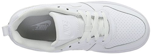Nike Wmns Court Borough Low, Zapatillas de Baloncesto para Mujer Blanco (Blanco (white/white-white))